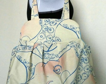 Large Comic Book Style Octopus Bag