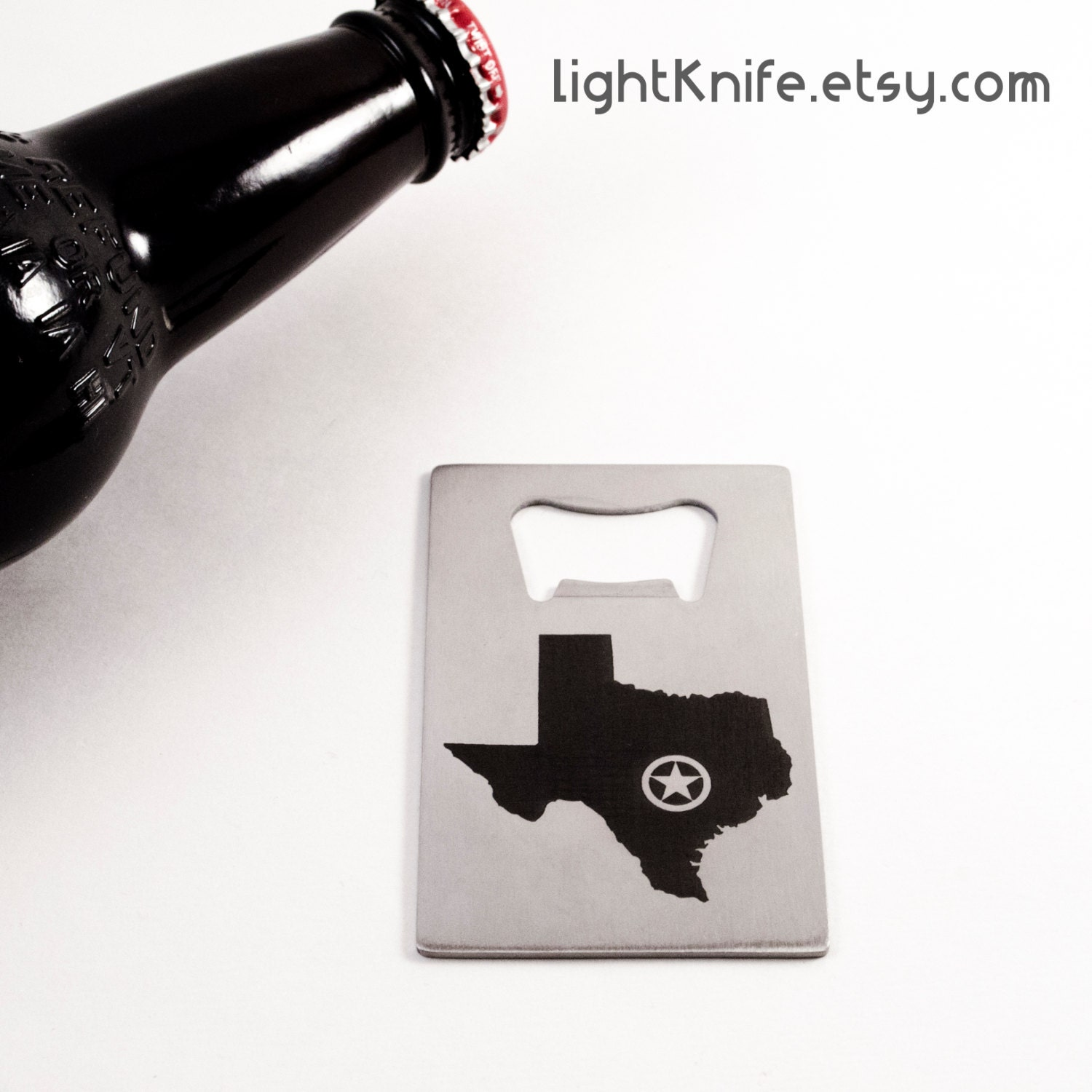 texas state pride credit card bottle opener free shipping. Black Bedroom Furniture Sets. Home Design Ideas