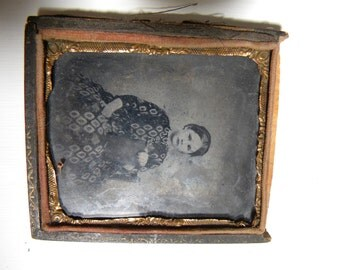 FRAMED TINTYPE or Photo from early 1900's