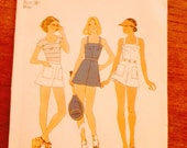 Simplicity 7491 Tennis dress, shorts, panties, and racket cover 1976