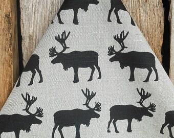 Christmas Tea Towel Moose Towel Christmas Decor Kitchen Towel Moose Decor Dish Towel Christmas Ornament Christmas Gift Scandinavian