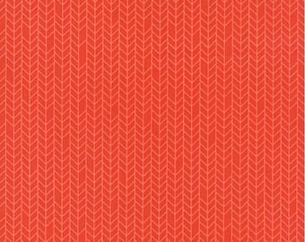 Native Sun Terra Cotta Herringbone by Abi Hall for Moda  - 1 Yard