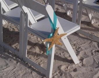 Beach Wedding Decor - Starfish Chair Or Aisleway Decoration