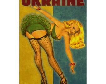 UKRAINE 1PS- Handmade Leather Photo Album - Travel Art