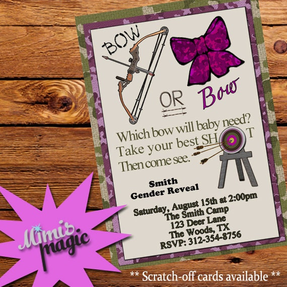 Items Similar To Which Bow Will Baby Need Hunting Gender