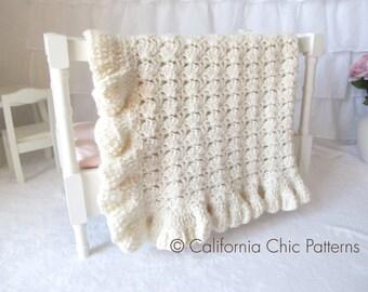 Crochet Baby Blanket PATTERN 49 - Hollywood Series - Crochet Blanket - Instant Download PDF Pattern