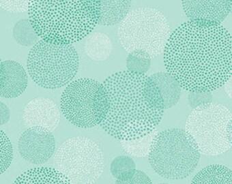 One Yard - MORE of This 'N That  - Aurora in Seafoam - Cotton Quilt Fabric - Designed by Nancy Halvorsen for Benartex (W1939)