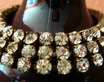 Pre WWII Czechoslav rhinestone 3 strand bracelet