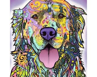 Silence is Golden Retriever Dog Dean Russo Wall Decal #44800