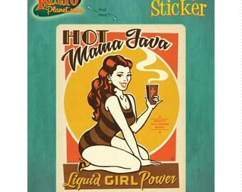 Hot Mama Java Coffee Vinyl Sticker #47869