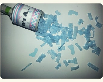 BABY GENDER REVEAL - Confetti Party Poppers - pink/blue insides