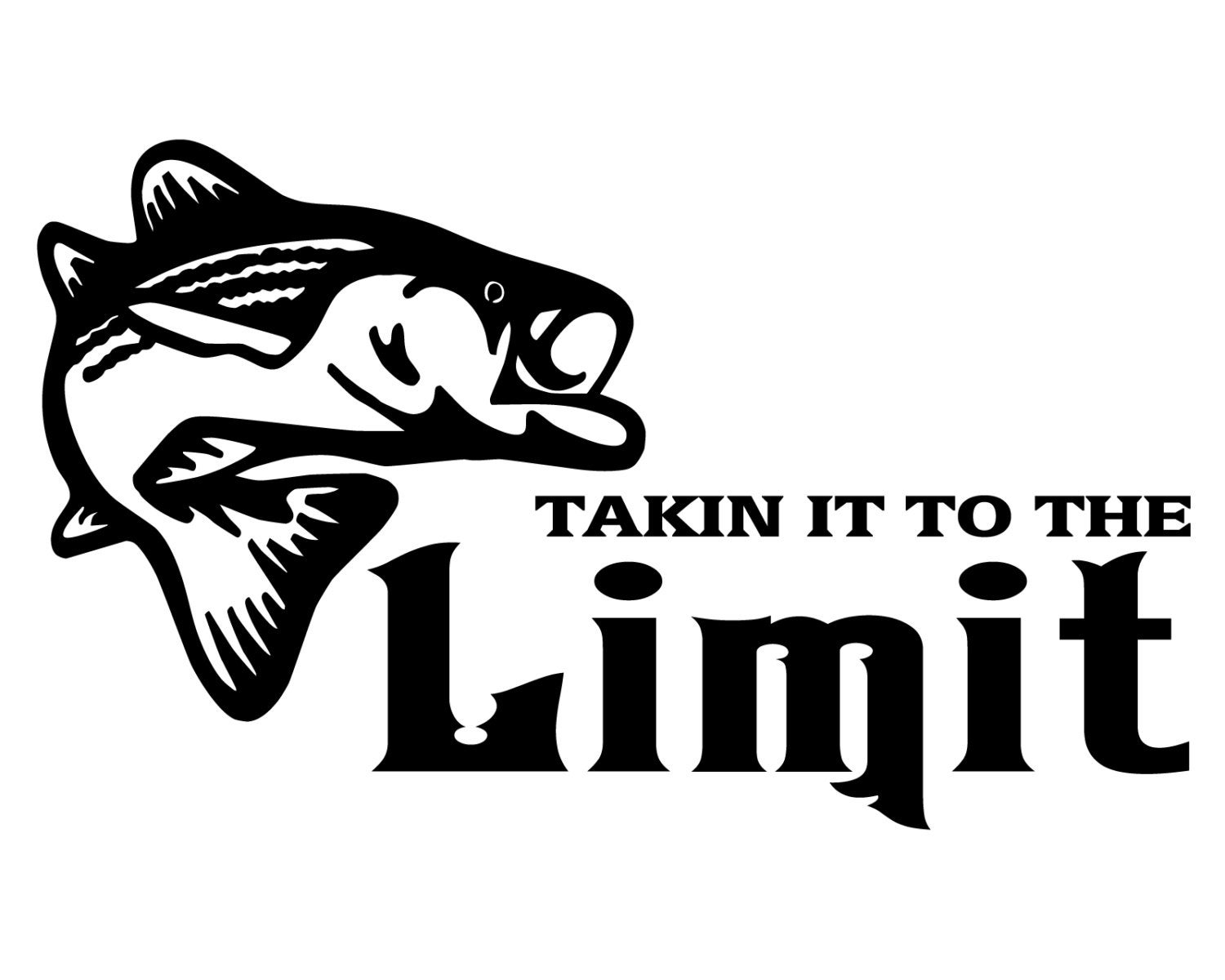 bass fishing decal takin it to the limit fish sticker bass