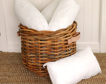 65cm x 35cm | 25in x 14in | Eco friendly, Non allergenic Lumbar Rectangle Cushion Pillow Insert