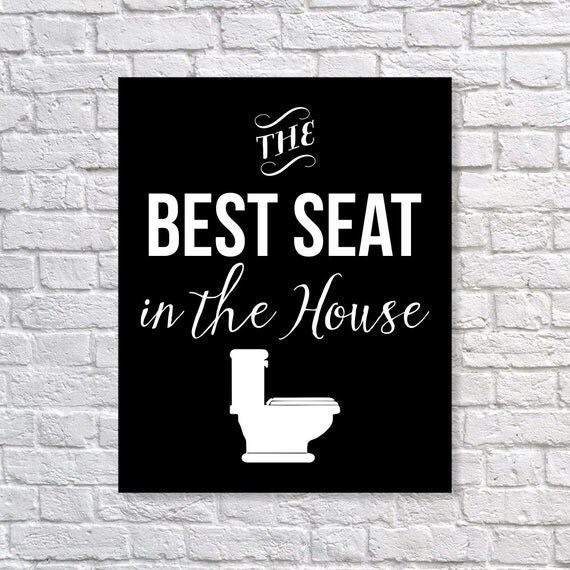 Funny Bathroom Art 39 The Best Seat In The House 39 By Picturality