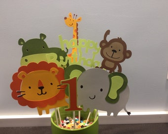 7 Piece Zoo or Jungle Themed Centerpiece