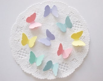 Pastel Butterfly Confetti, Butterfly Cutouts, 200 CT, Table Decor, Party Decoration, Ships in 2-3 Business Days