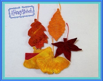 Item 257 Thanksgiving Tree Leaves (Machine Appliqué Embroidery Design)