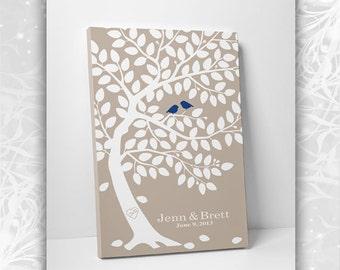 Guest Book Alternative // Unique Guest Book // Classic Oak Tree // Canvas or Matte Print 75-150 Guests // 16x20 Inches