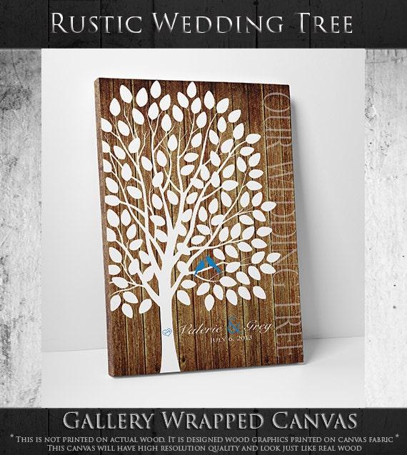 Custom Wedding Accessories Savannah Live Oak Thumbprint: Custom Wedding Accessories: Wedding Guest Book Canvas