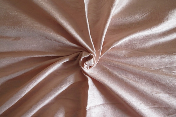 44 Wide 100 Dupioni Silk Fabric Pale Rose By The