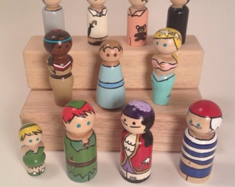 Complete Peg Doll Play set! Peter Pan