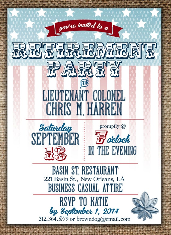 Military Retirement Party Invitations was great invitations layout