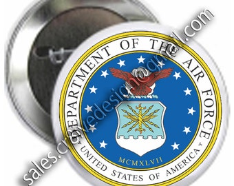 Air Force 2.25 inch button