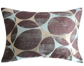 Very dark brown Turquoise Golden colors BY GALLE DESIGN,Decorative Throw Pillow Covers,Lumbar pillow case,Luxury pillow cover, Accent pillow