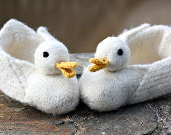 White duck slippers socks shoes