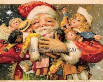 christmas postcard, christmas postcard printable, digital christmas postcard, vintage christmas postcard, christmas victoriana, you print
