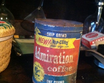 Rusty Admiration Coffee Can