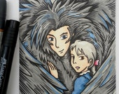 Sophie and Howl Illustration