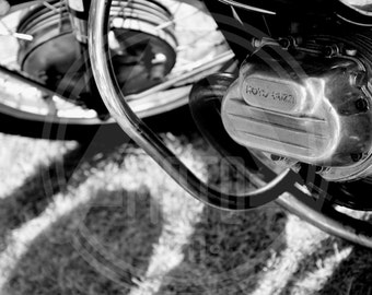 Motorcycle Photo - Vintage Moto Guzzi