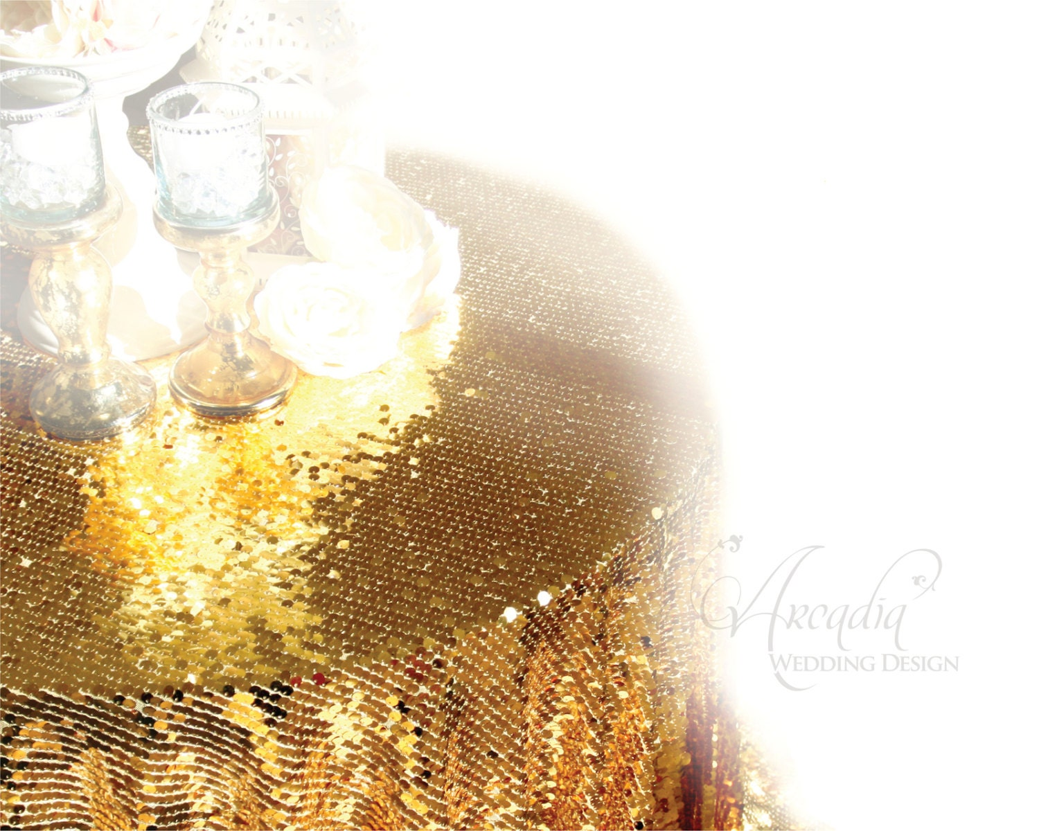 Gold Sequin Table Cloth Sparkly Overlay Tablecloth Shimmer