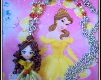 Handmade neaklace. Belle princess disney