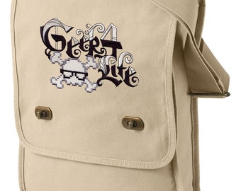 Geek 4 Life Embroidered Canvas Field Bag