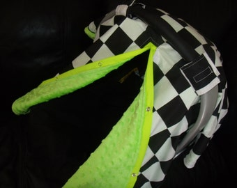 Carseat Canopy Minky Squares Blanket Cover car seat canopy car seat cover nursing cover
