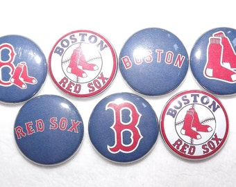 "Boston Red Sox MLB 1"" Round  Buttons"