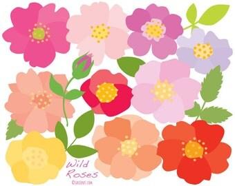Flowers Clip Art - Roses - Floral Clipart