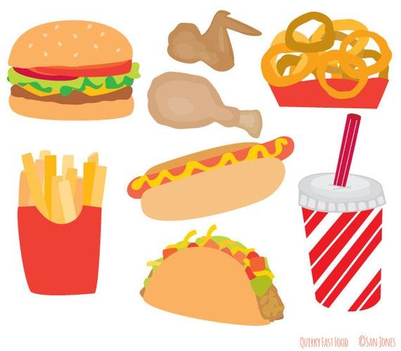Food Clip Art fast Food clip art Burger Fries Hot Dog
