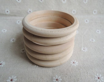 10Pcs 61mm (small size)  -width :10mm Wood Bracelet Wood bangle for Kid  W791
