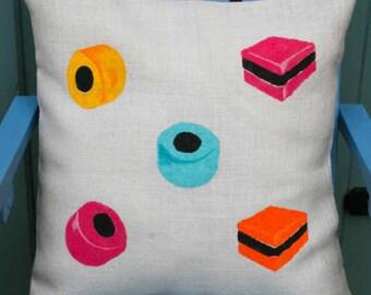 Sweeties Liquorice Allsorts Cushion