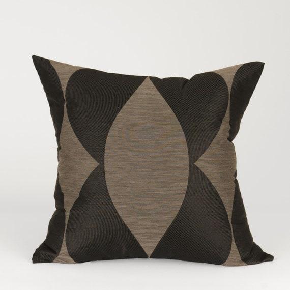 Decorative Pillows Black And Grey : Modern Black and Grey Square Decorative Pillow Cover with