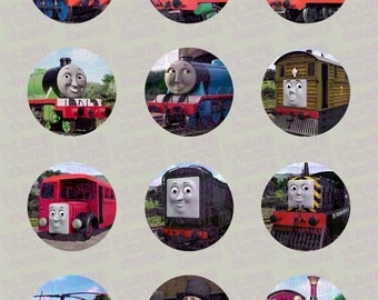 Thomas the Train & Friends Inspired Edible Icing Cupcake Decor Toppers - TT1