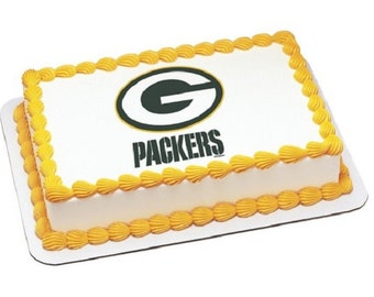 NFL Green Bay Packers Edible Icing Sheet Cake Decor Topper in your choice of size