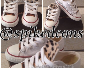 Toddler & youth leopard tongue converse