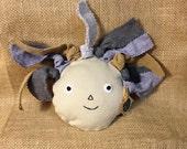 Rag Doll Upcycled Dog Toy, Squeaky, Plush, Eco-friendly