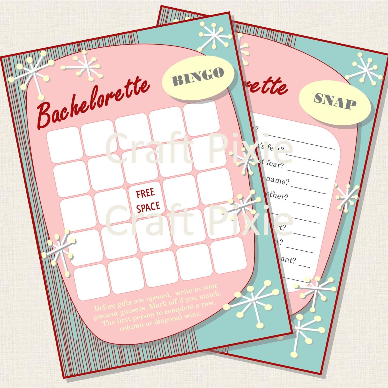 Hen Party Bachelorette BINGO SNAP Quiz Game Printable PDF