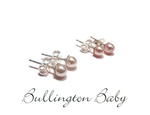 infant pearl earrings baby earrings earrings pearl earrings by 8455