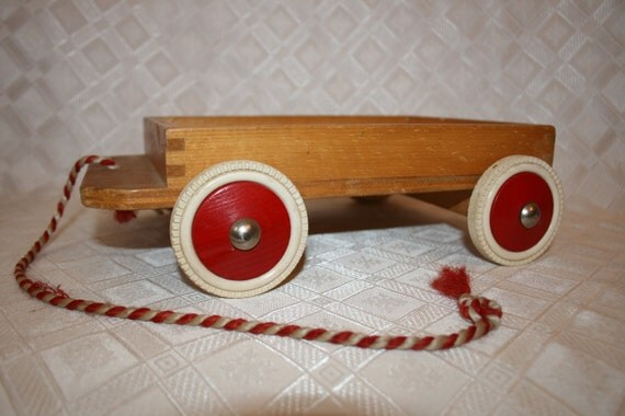 Antique Toy Little Wooden Wagon